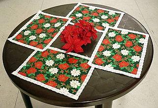 Úžitkový textil - Prestieranie vianočné pestrofarebné - 6856377_