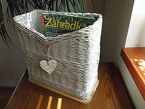 Dekorácie - Odkladací box na časopisy I. - 6856470_