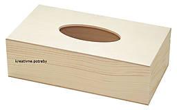 Polotovary - Krabica na vreckovky - otváracia masív - 6855737_