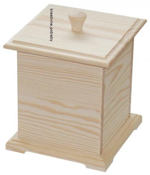 Krabička s vrchnákom masív