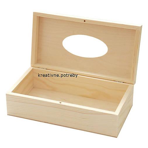 Krabica na vreckovky - otváracia masív