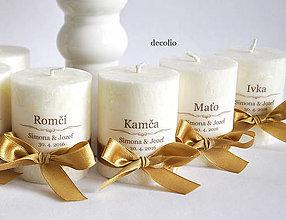 Darčeky pre svadobčanov - Darček a menovka #1 - 6857026_