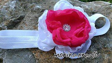 Detské doplnky - Jemná ružovo biela čelenočka - 6857115_