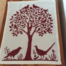 Obrázky - výšivka strom s vtáčikmi - 6857345_