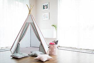 Detské doplnky - Teepee star pink - 6859050_