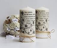 Svietidlá a sviečky - Dekoračná sviečka - pre pani učiteľky ku koncu šk. roka II. - 6857382_