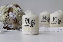 Dekoračná sviečka pre svadobných hostí