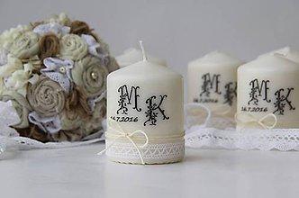Darčeky pre svadobčanov - Dekoračná sviečka pre svadobných hostí - 6857565_