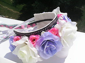 Ozdoby do vlasov - Svadobná kvetinová parta - 6858820_