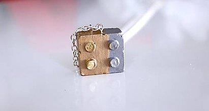 Náhrdelníky - Betónová kocka náhrdelník - 6857512_