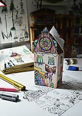Socha - Balíček/2 omaľovánky-minidomčeky (digitálna verzia/tlač doma) - 6857219_