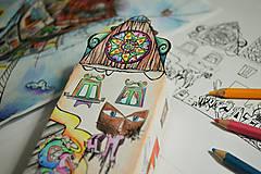 Socha - Balíček/2 omaľovánky-minidomčeky (digitálna verzia/tlač doma) - 6857438_