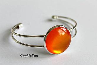 Náušnice - Glamour Orange (Náramok 25mm) - 6858121_