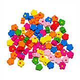 - Drevené korálky kvetinky malé (balíček pre tvoritlky 50ks) - 6858036_