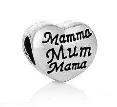 Korálky - Pandorková korálka MAMMA MUM MAMA - 6857444_