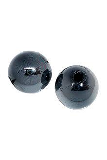 Korálky - Plastové korálky čierne s dúhovými odleskami 10mm (balíček 10ks) - 6857467_