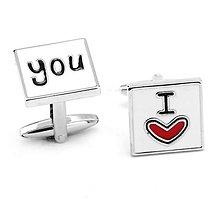 Galantéria - Manžetové gombíčky I LOVE YOU - 6858094_