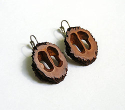 Náušnice - Orechové ornamenty do uška - 6856907_