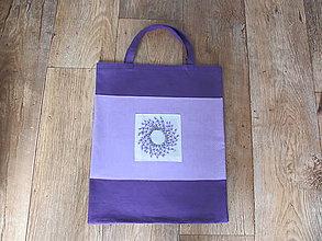 Nákupné tašky - Nákupná taška levanduľová - 6858152_