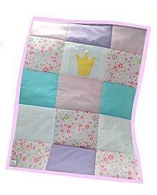 Textil - Prehoz do postieľky z kolekcie Princezná 120x60cm - 6862776_