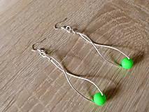 Náušnice - Zelené jablká - 6859801_