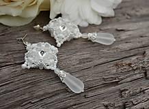 - Svadobné Náušnice...Wedding Tears + Dárková krabička - 6861727_