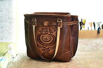 Veľké tašky - shopper bag SURMENA mahagón, vzor, M - 6862798_