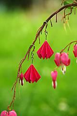 Náušnice - Růžové lampionky - 6861240_