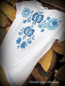 Tričká - Modranská maľovaná na tričku 2 - 6862152_