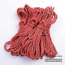 Nezaradené - Jutový provaz 5 mm červený – 6 ks pro bondage - 6862740_