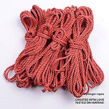 Nezaradené - Jutový provaz 5 mm červený – 8 ks pro bondage - 6862818_