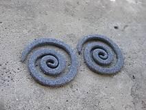 Náušnice - Rozťahováky - slimáky kamenné 5cm, 2 ks č.488 - akcia - 6861343_