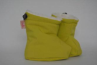 Topánočky - Softshellové termo čižmičky - žltá - 6862135_