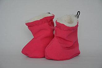 Topánočky - Softshellové termo čižmičky - tm.ružová - 6862146_