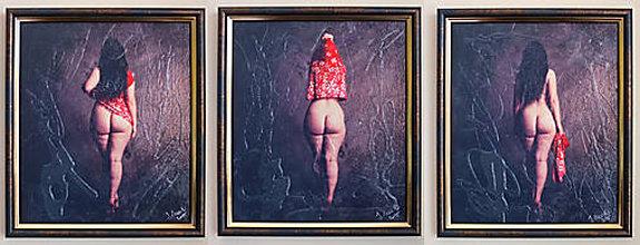 Fotografie - Umelecká fotografia akt Triptych - 6860337_