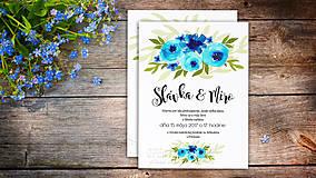 Papiernictvo - Svadobné Oznámenie - Tyrkysové kvety (pay&download) - 6860221_