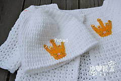 Detské čiapky - Čiapočka pre malé princezné - 6860335_