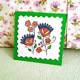 Papiernictvo - Mini folk pohľadnica - 6860249_