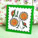 Papiernictvo - Mini folk pohľadnica 3 - 6860723_