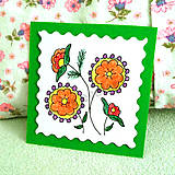 Papiernictvo - Mini folk pohľadnica - 6860723_