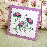 Papiernictvo - Mini folk pohľadnica - 6861205_