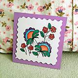 Papiernictvo - Mini folk pohľadnica 5 - 6861863_