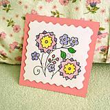 Papiernictvo - Mini folk pohľadnica - 6861933_