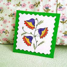 Papiernictvo - Mini folk pohľadnica (1) - 6860053_
