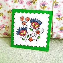 Papiernictvo - Mini folk pohľadnica (2) - 6860249_