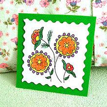 Papiernictvo - Mini folk pohľadnica (3) - 6860723_