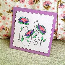 Papiernictvo - Mini folk pohľadnica (4) - 6861205_