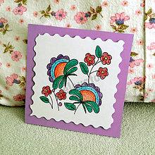 Papiernictvo - Mini folk pohľadnica (5) - 6861863_
