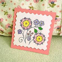 Papiernictvo - Mini folk pohľadnica (6) - 6861933_