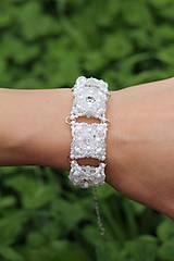 Náramek Svatební Crystal White Swarovski + Dárková krabička